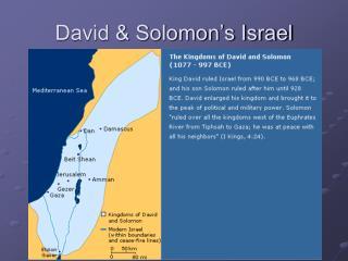 David & Solomon's Israel