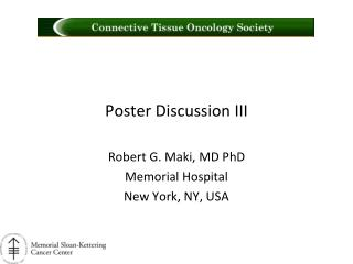 Poster Discussion III