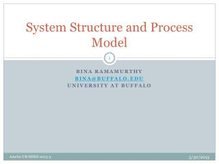 System Structure and Process Model