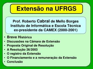 Extensão na UFRGS