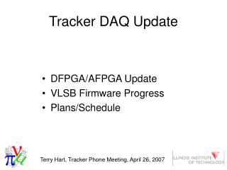 Tracker DAQ Update