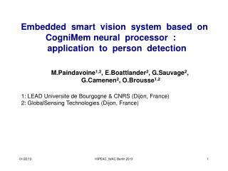 Embedded smart vision system based on  CogniMemneural processor :