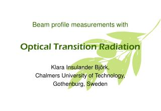 Optical Transition Radiation