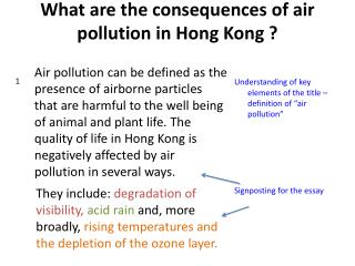 What are the consequences of air pollution in Hong Kong ?