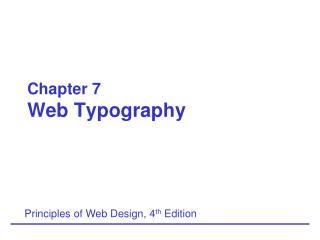 Chapter 7 Web Typography