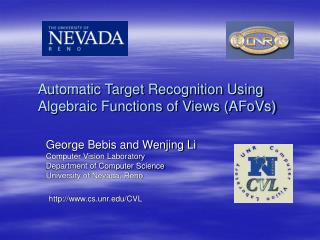 Automatic Target Recognition Using Algebraic Functions of Views (AFoVs)