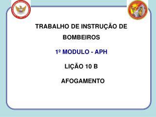 TRABALHO DE INSTRUÇÃO DE BOMBEIROS 1º MODULO - APH LIÇÃO 10 B   AFOGAMENTO