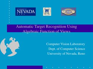 Automatic Target Recognition Using Algebraic Function of Views