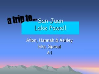 San Juan Lake Powell
