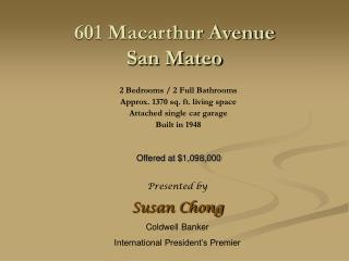601 Macarthur Avenue San Mateo
