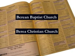 Berean Baptist Church