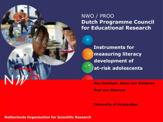 NWO / PROO Dutch  Programme  Council for Educational Research