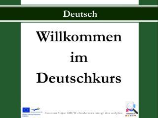 Willkommen im Deutschkurs