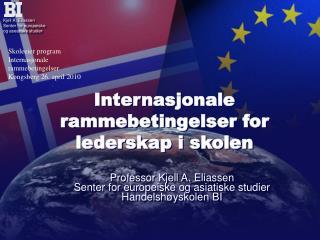 Internasjonale rammebetingelser for lederskap i skolen