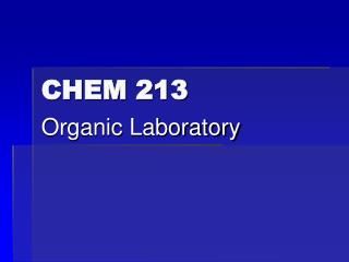 CHEM 213
