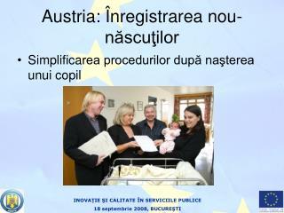 Austria:  Înregistrarea nou-născuţilor