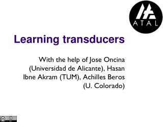 Learning  transducers
