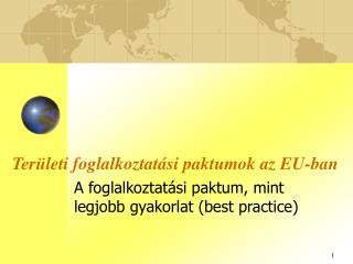 Területi foglalkoztatási paktumok az EU-ban