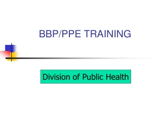 Bloodborne Pathogen Training