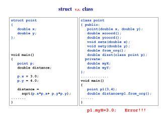 struct v.s. class