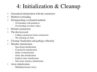 4: Initialization & Cleanup