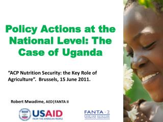 Policy Actions at the National Level: The Case of Uganda