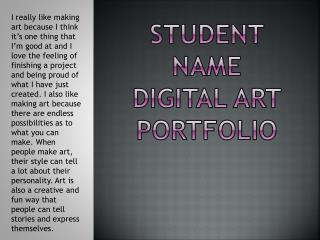 Student Name Digital Art Portfolio