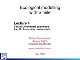 Ecological modelling  with Simile