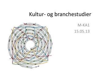 Kultur- og branchestudier