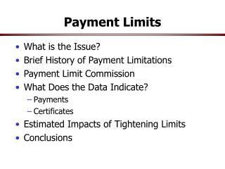 Payment Limits