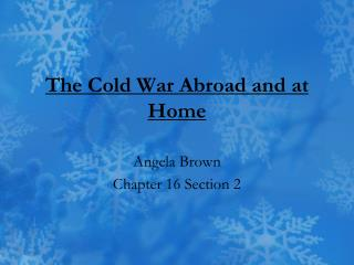 The Cold War Abroad and at Home