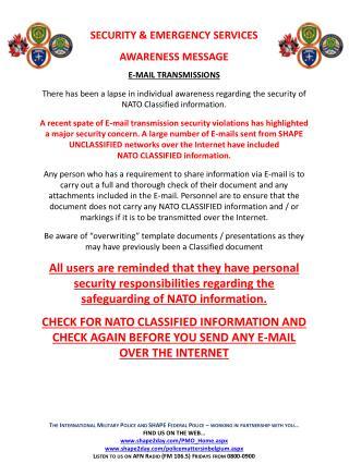 E-MAIL TRANSMISSIONS