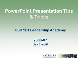 PowerPoint Presentation Tips & Tricks