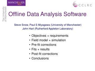 Offline Data Analysis Software