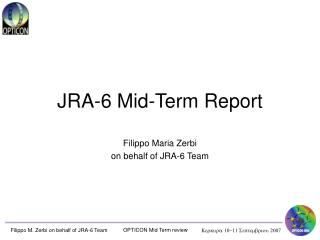 JRA-6  Mid-Term  Report
