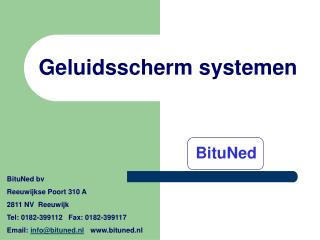 Geluidsscherm systemen