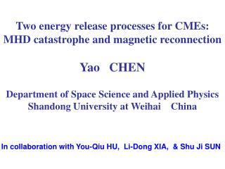 In collaboration with You-Qiu HU,  Li-Dong XIA,  & Shu Ji SUN