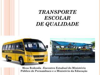 TRANSPORTE ESCOLAR DE QUALIDADE
