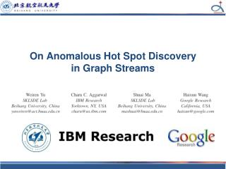 On Anomalous Hot Spot Discovery  in Graph Streams