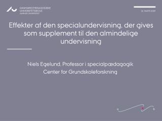 Effekter af den specialundervisning, der gives som supplement til den almindelige undervisning