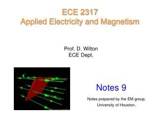Prof. D. Wilton ECE Dept.