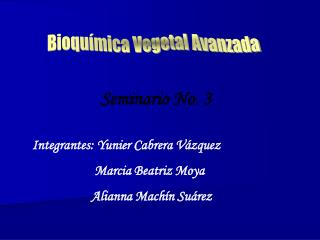 Bioquímica Vegetal Avanzada