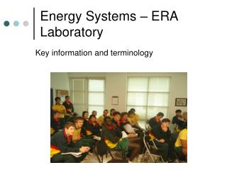 Energy Systems – ERA Laboratory