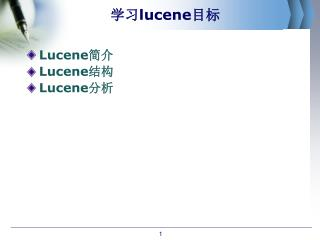 学习 lucene 目标