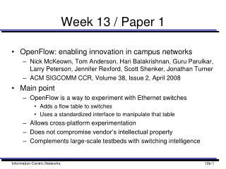 Week 13 / Paper 1