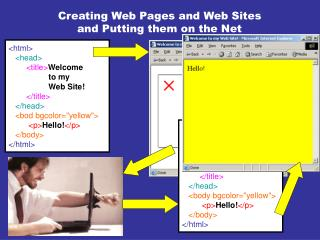 Creating Web Pages and Web Sites and Putting them on the Net