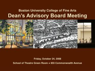 Boston University College of Fine Arts Dean's Advisory Board Meeting