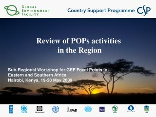 Review of POPs activities  in the Region