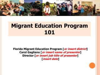 Adult migrant education program