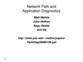 Network Path and Application Diagnostics
